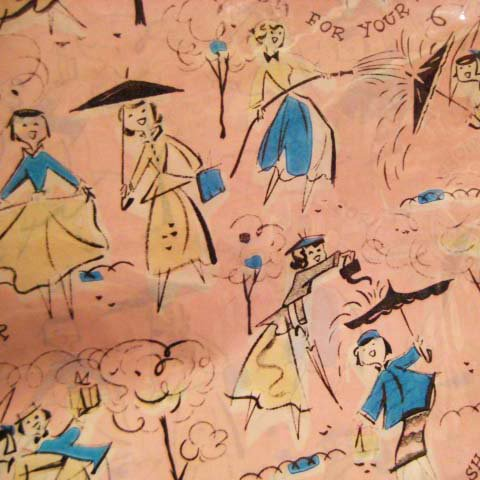 50's Wrapping Paper (Lady)