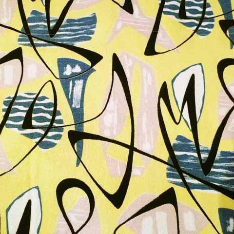 50's Atomic Pattern Curtain