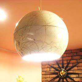 White Ball Ceiling Lamp