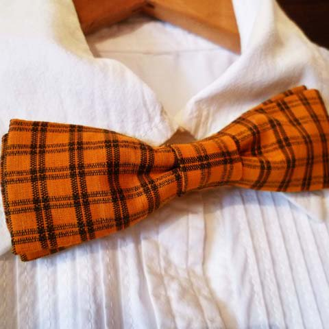 Bow Tie (Vintage Fabric/Orange)