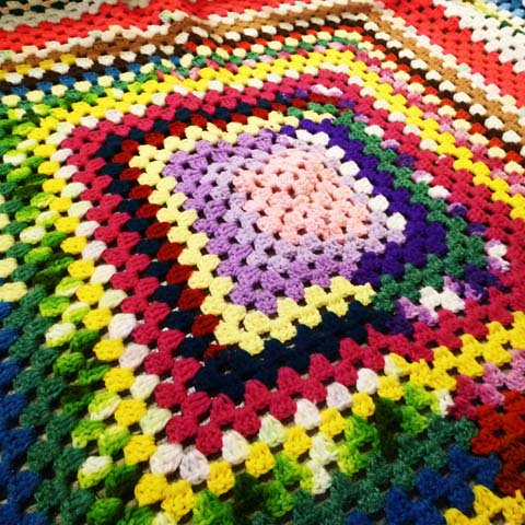 Knit Rug (Mix color)