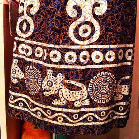50's Exotic Print Skirt