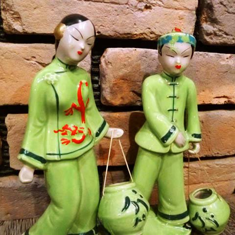 50's Chinese Doll Pair