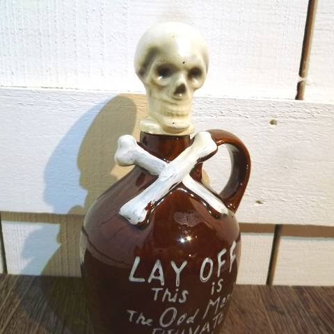 Skull Ceramic Decanter