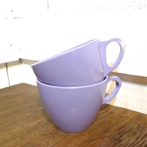 Purple Melmac Cup 2pset