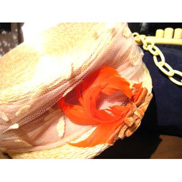 Toque Hat w/Feather