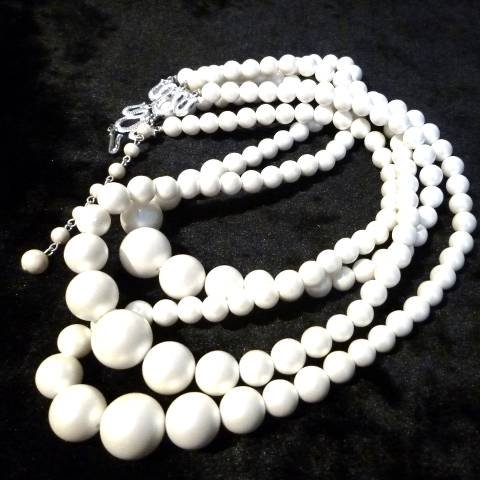 Pearl 3Draped Necklace