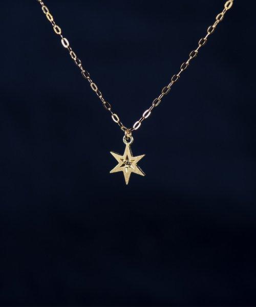 真夜中の星ネックレス