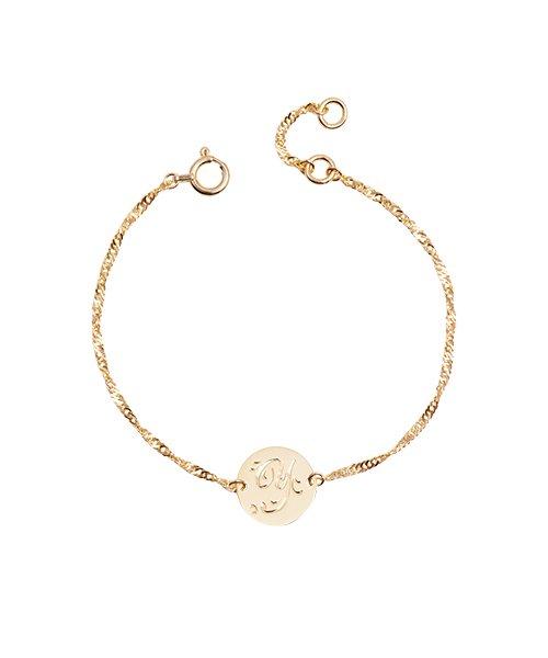 K18YG Chain Bracelet Round Baby(受注生産)
