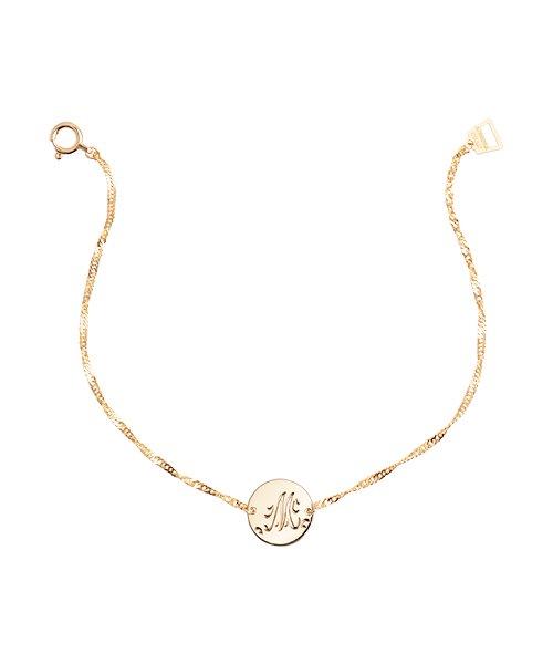 K18YG Chain Bracelet Round Mom(受注生産)