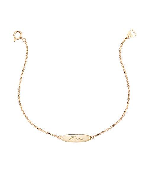K18YG Chain Bracelet Oval  for Mom(受注生産)