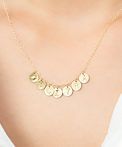 Com Letter Necklace チャームタイプ7