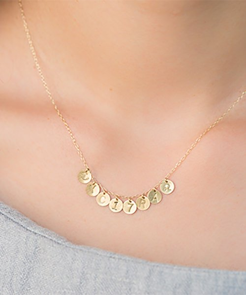 Com Letter Necklace チャームタイプ8