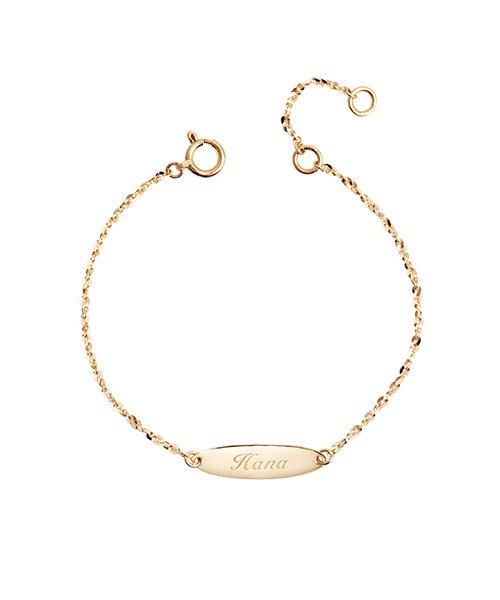 K18YG Chain Bracelet Oval  for Baby(受注生産)