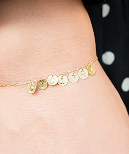 Com Letter Bracelet チャームタイプ7