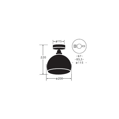 鉄鉢・CL型BK | 後藤照明