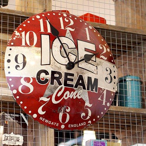 アイスクリームアドバタイジングクロック | ニューゲート / アートワークスタジオ