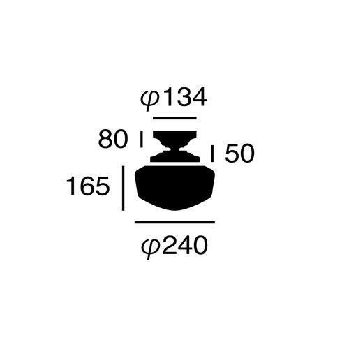 イーストカレッジシーリングランプ (S)(BK/WH ブラック×ホワイト)        アートワークスタジオ  【完売 生産終了】
