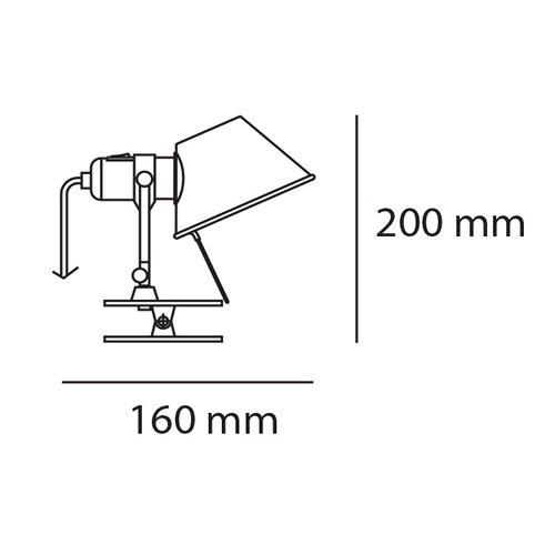 Tolomeo LED pinza Micro トロメオ LED ピンツァ ミクロ (シルバー) | アルテミデ