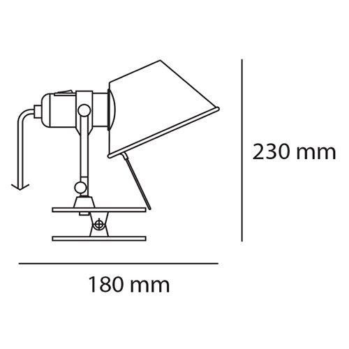 Tolomeo LED Pinza (シルバー)   アルテミデ