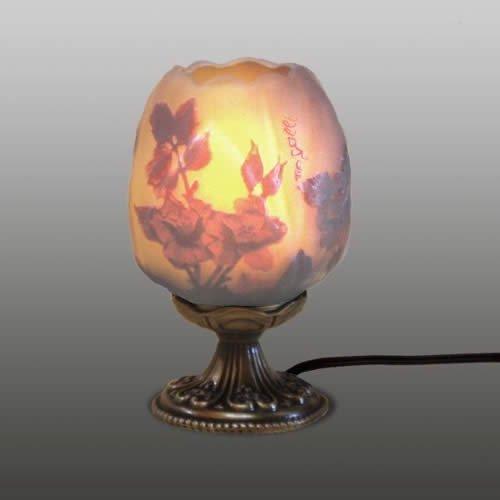 ガレコレクション 1灯テーブルスタンド レッドローズ