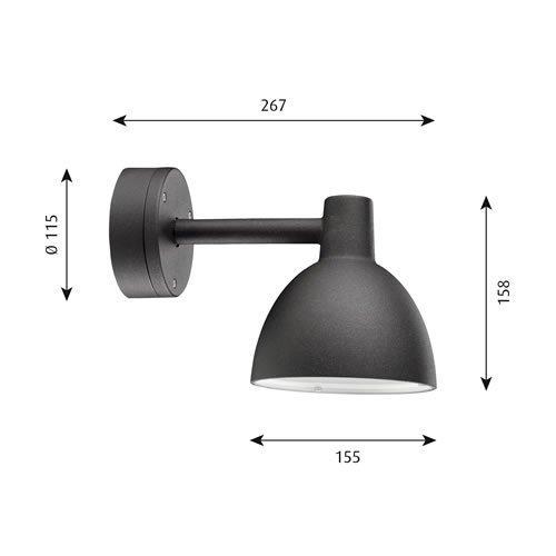トルボー 155 ウォール ブラック  | ルイスポールセン 【正規品】