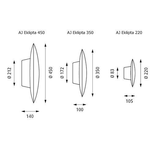 AJ エクリプタ 450  | AJ Eklipta  | ルイスポールセン 【正規品】