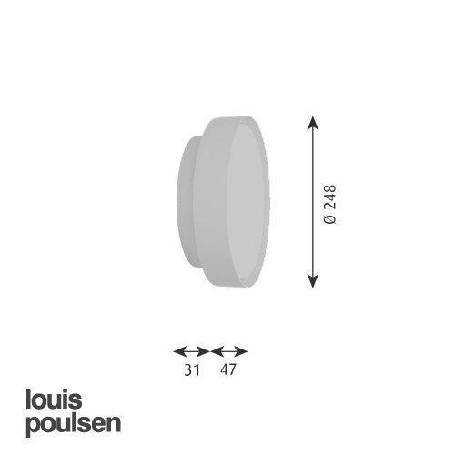 LP サークル 直付型 450 (レッド)   | ルイスポールセン