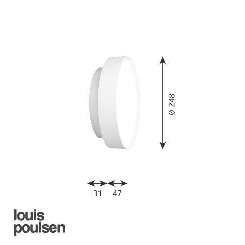 LP サークル 直付型 260 (レッド)   | ルイスポールセン