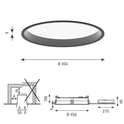LP サークル 埋込型 450 (ブラック) | ルイスポールセン