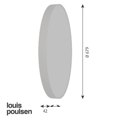 LP サークル 埋込型 260 (レッド) | ルイスポールセン 【正規品】