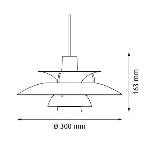 PH5 ミニ グレー・グラデーション   ルイスポールセン