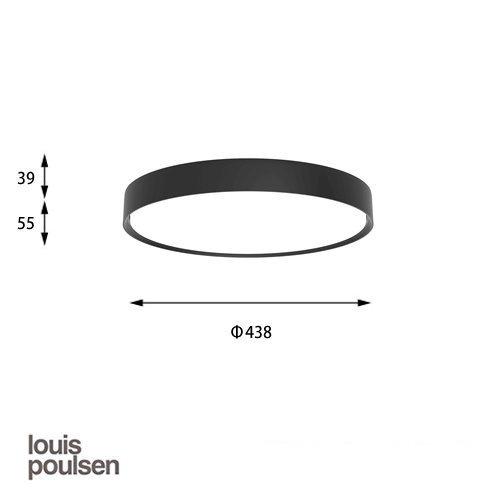LP スリムラウンド 直付型 440 ブラック | ルイスポールセン