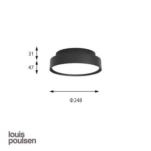LP スリムラウンド 直付型 250 ブラック | ルイスポールセン 【正規品】