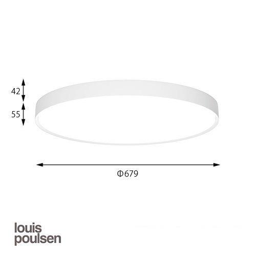 LP スリムラウンド 直付型 680 ホワイト | ルイスポールセン