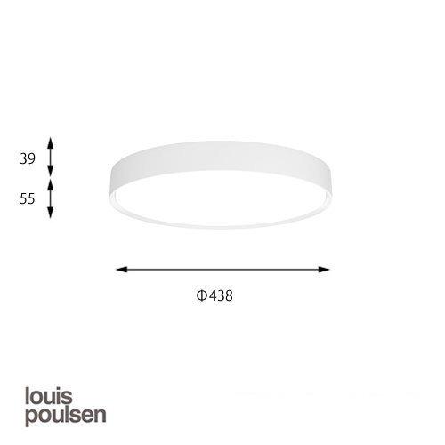 LP スリムラウンド 直付型 440 ホワイト   ルイスポールセン