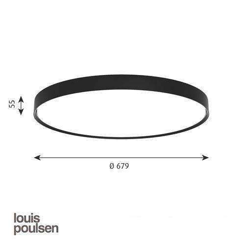 LP スリムラウンド 半埋込型 680 ブラック | ルイスポールセン