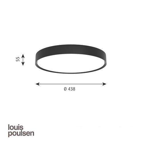 LP スリムラウンド 半埋込型 440 ブラック | ルイスポールセン