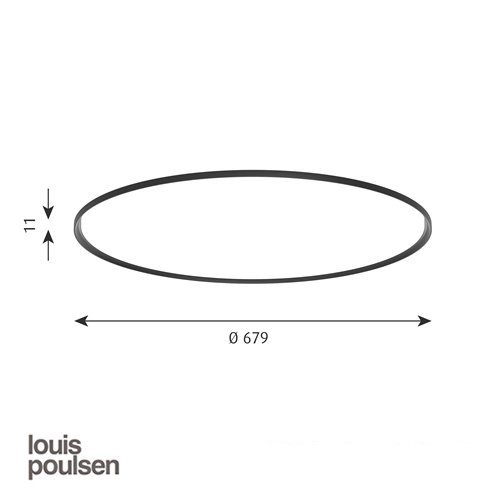 LP スリムラウンド 埋込型 680 ブラック | ルイスポールセン 【正規品】