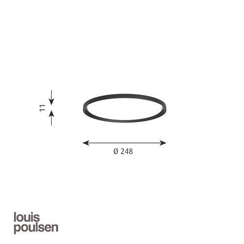 LP スリムラウンド 埋込型 250 ブラック | ルイスポールセン