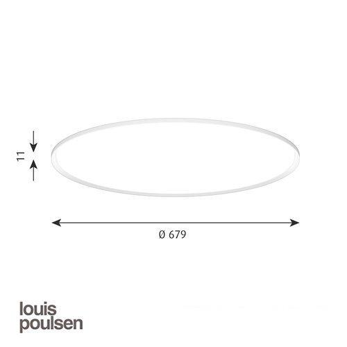 LP スリムラウンド 埋込型 680 ホワイト | ルイスポールセン
