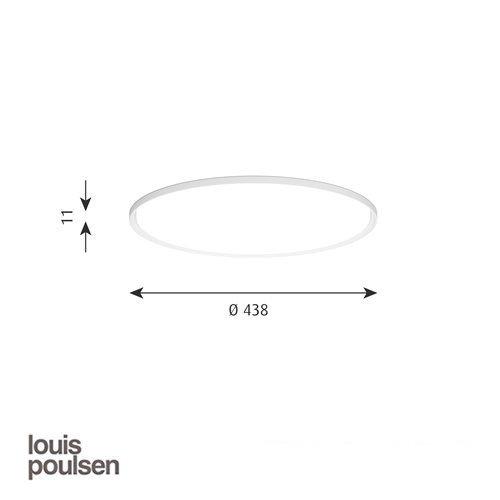 LP スリムラウンド 埋込型 440 ホワイト | ルイスポールセン 【正規品】