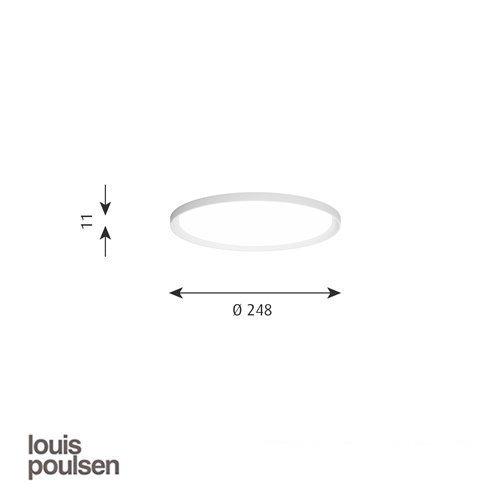 LP スリムラウンド 埋込型 250 ホワイト | ルイスポールセン