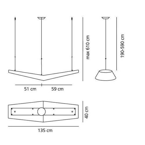 Mouette LED simmetrica | Artemide アルテミデ