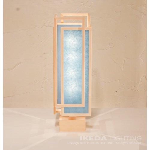 旬 shun L (白 × 藍) 行灯 | 新洋電気