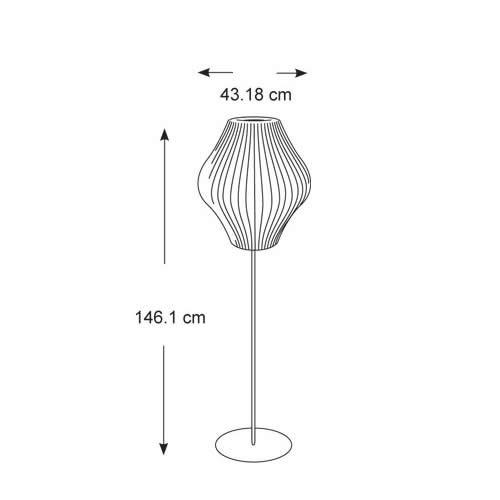 ネルソン ペア ロータス フロアー ランプ M(ブラッシュドニッケル)   ハーマンミラー