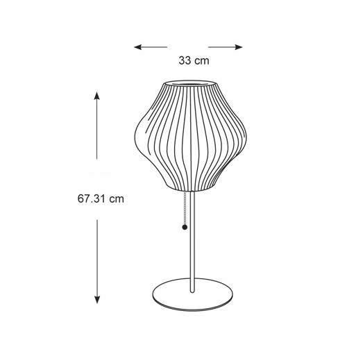 ネルソン ペア ロータス テーブルランプ(ウォルナット) | ハーマンミラー
