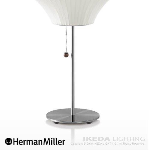 ネルソン ペア ロータス テーブルランプ(ブラッシュドニッケル)   ハーマンミラー