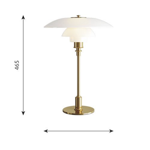 PH3 1/2-2 1/2 グラステーブルランプ(真鍮メタライズド) | ルイスポールセン 【正規品】