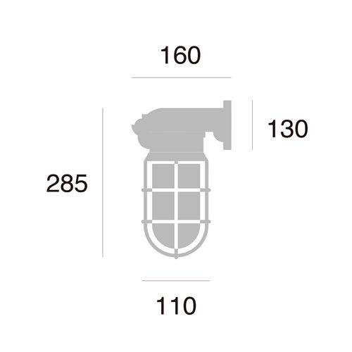 ネイビーベース ウォールランプ(コードなし / 屋内・屋外兼用)防雨モデル | アートワークスタジオ  -- 入荷待ち ご予約受付中!--